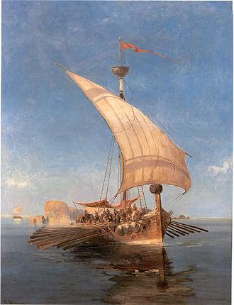 Argonauts - The Argo, by Konstantinos Volanakis (1837–1907).
