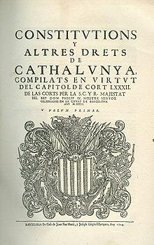 Resultat d'imatges de constitucions catalanes