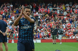Francis Coquelin - Coquelin warming-up for Arsenal in 2015