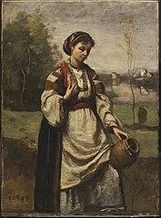 Gypsy Girl at a Fountain