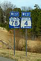 Corridor X shields along future Interstate 22 in Alabama.jpg