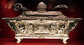 Cosimo merlini il vecchio, reliquiario dei ss. marco papa, amato abate e concordia martire, 1622, argento su legno 01.JPG