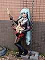 Cosplayer of Hatsune Miku with Electric Guitar at CWT42 20160213a.jpg