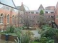 Courtyard garden, Leeds General Infirmary - geograph.org.uk - 148840.jpg