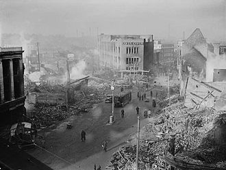 Coventry city centre following the 14/15 November 1940 raid Coventry bomb damage H5600.jpg