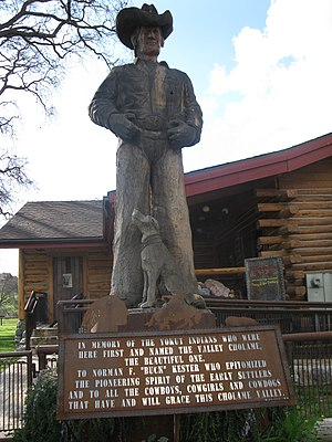 Parkfield, California - Image: Cowboy monument in Parkfield