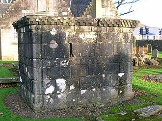 Kilbirnie Auld Kirk - Image: Craufurds Tomb in Kilbirnie Auld Kirk cemetery