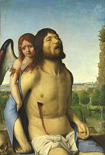 Antonello da Messina, The Dead Christ Supported by an Angel, c. 1475