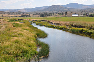Crooked River (Oregon) - Upper river near Post