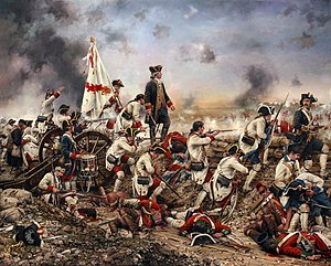 Florida - Grenadiers led by Bernardo de Gálvez at the Siege of Pensacola. Painting by Augusto Ferrer-Dalmau, 2015.