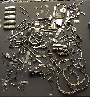 Hacksilver Fragments of cut and bent silver items used as currency