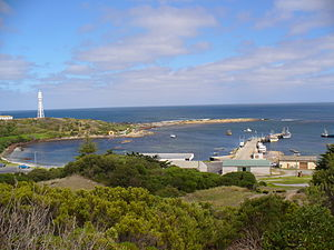 Currie, Tasmania harbour on King Island in Tas...