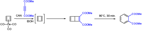 Cyclobutadiene to Dewarbenzene conversion