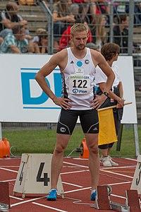 DLV Leichtathletik DM 2014 100m Männer by Olaf Kosinsky -30.jpg