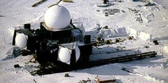 Snow science - Move of DYE 2 radar facility to new foundations on the Greenland ice cap.
