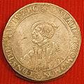 Daalder met het portret van Oswald II, 1511-1546, Hagemunten, De munt van 's-Heerenberg.JPG