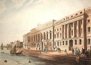 David Laing (architect) - Drawing showing the New Custom House
