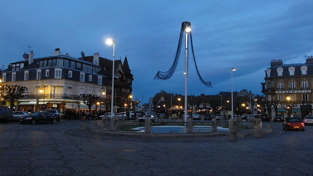 Deauville dans le Calvados (Basse-Normandie, France).