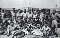 David Ben-Gurion, Yigal Alon, Yitzhak Ziv-Av, Yitzhak Rabin with soldiers after the conquest of Um Rashrash. 1949 (id.19604710).jpg