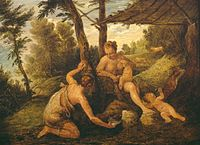 David Teniers - Adam and Eve after the Expulsion (after Paolo Veronese and studio) CIA P 1978 PG 429.jpg