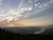 A view of the Yukon River near Dawson City, Yukon