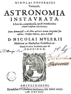 Nicolaus Mulerius Dutch astronomer and medical academic