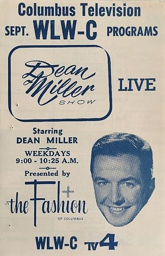 Allied Stores - Advertisement for The Dean Miller Show on WLW-C (now WCMH) in Columbus, Ohio. Sponsored by The Fashion.