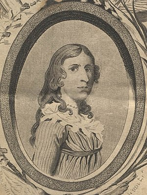 Deborah Sampson - Frontispiece of The Female Review: Life of Deborah Sampson, the Female Soldier in the War of Revolution.
