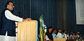 Defence Minister Arun Jaitely speaking at the foundation stone laying ceremony for the Nau Sena Bhawan.JPG