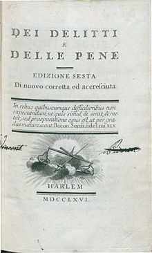 essay crimes punishment 1764 Cesare beccaria is considered to be the his 1764 publishing of essay on crimes and punishments indicted the cruel and inhumane on crime and punishments.
