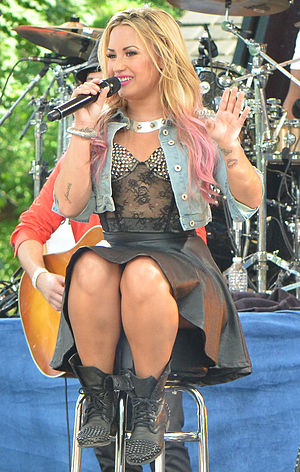Unbroken (Demi Lovato album) - Lovato performing on Good Morning America Summer Concert on July 9, 2012.