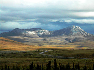 Dempster Highway - Dempster Highway near the Richardson Mountains.