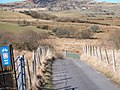 Descending down to the bridge over Afon Dwyfor - geograph.org.uk - 1760804.jpg
