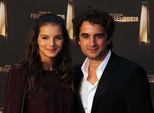 Yvonne Catterfeld - Catterfeld with partner Oliver Wnuk at the Deutscher Fernsehpreis 2012.