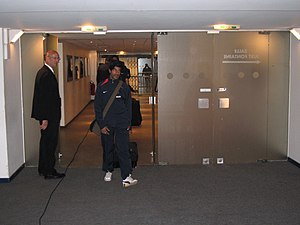 Vikash Dhorasoo - Dhorasoo arriving at the Parc des Princes for a match against AC Ajaccio on 5 May 2006.