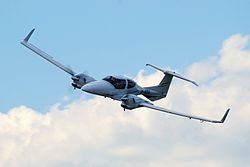 Diamond DA42 Twin Star SP-NBA -- fly-by (3318845648).jpg