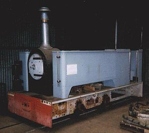 Kerry Tramway - Diana being restored at Alan Keef Ltd. in 1999
