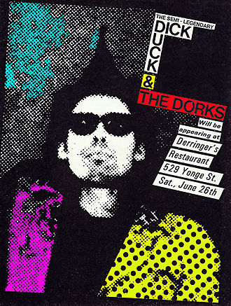 Punk visual art - Flyer advertising a punk rock concert.