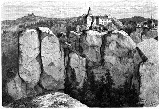 Hrubá Skála - Depiction in Die Gartenlaube (1859)