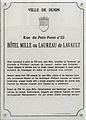 Dijon Hotel Mille plaque information.jpg
