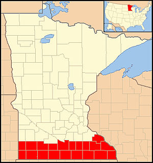 Roman Catholic Diocese of Winona - Image: Diocese of Winona map 1