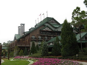 Entrance of Disney's Wilderness Lodge
