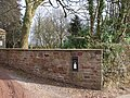 Disused post-box at the entrance to The Old Rectory - geograph.org.uk - 1706014.jpg