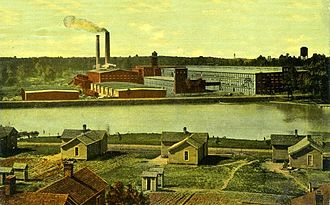 Cone Mills Corporation - A division of Cone Mills with a mill village, ca. 1914
