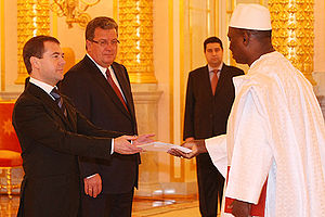 Mali–Russia relations - Dmitry Medvedev with Bréhima Coulibaly