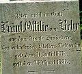 Dobbertin Klosterfriedhof Ottilie von Behr Reihe 3 Platz 9 1997-09.jpg