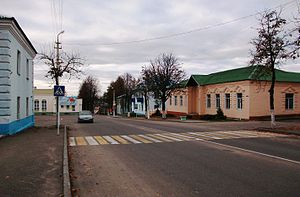 Dokshytsy - In the center of town
