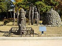 Dol hareubang and Jangseung.jpg