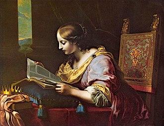 Carlo Dolci - Image: Dolci Caterina leggente