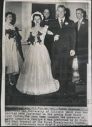 Don Laz - Image: Don Laz with wife 1951